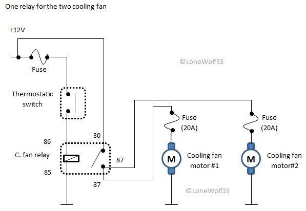 dual cooling fan wiring diagram radiator cooling fans page 3 alfa romeo forum  radiator cooling fans page 3 alfa