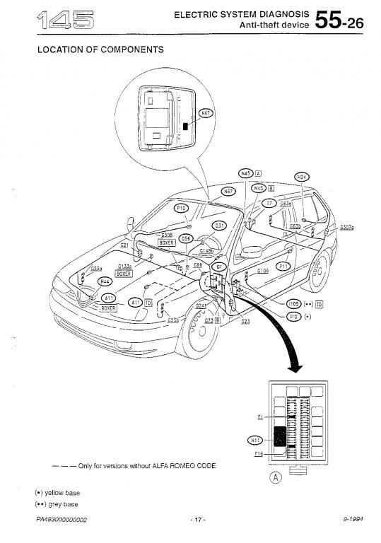 Alfa Romeo 145 Wiring Diagram
