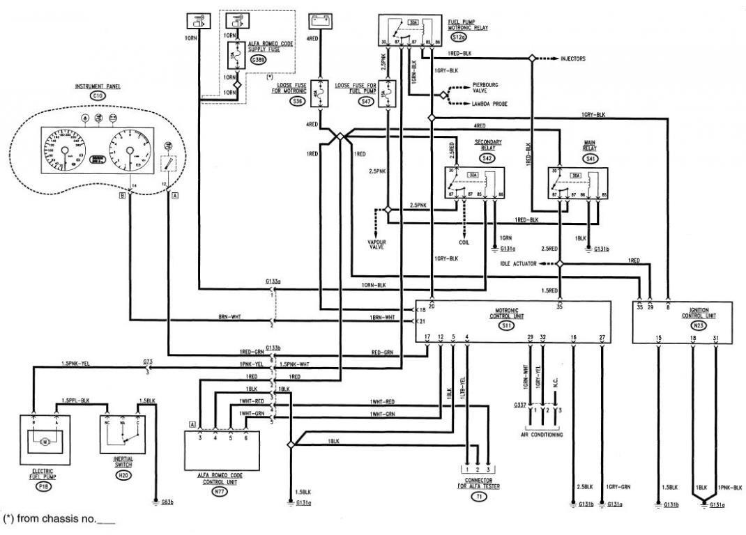86 Alfa Romeo Wiring Diagram