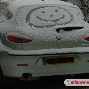 Even in the snow - a smile....