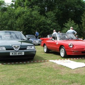Tifosi 27's 164 3.0 24v Super And S3 Spider At Jaguar Classic Show, Vip Crossford 14 June 2009