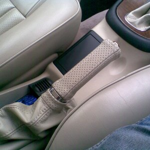 New Leather Hand Brake Gaitor + Handle