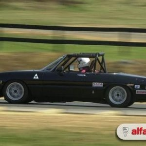 F1_Fanz - carbureted '80 Spider time-trialer on track