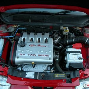 Engine bay clean and tidy
