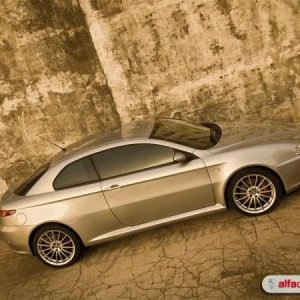 Alfa GT at the Durban Point