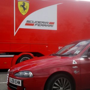 My Alfa With Ferrari F1 Transporter