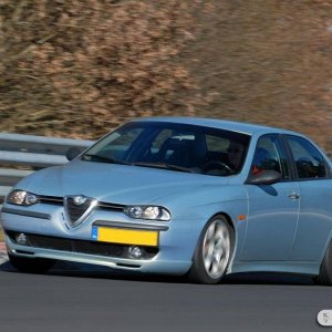 In action at the Nurburgring