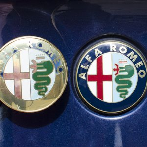 Old & New Alfa Badge